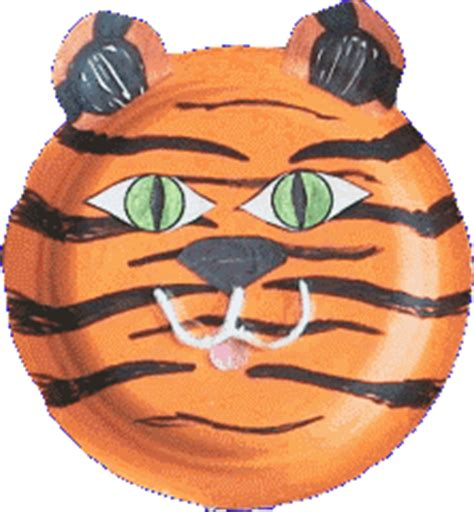 Tiger Paper Plate Craft - to talk july 2012