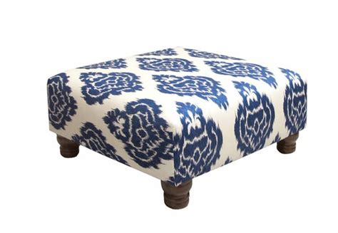 Blue Ikat Ottoman Navy Blue Ikat On Ottoman For The Home Pinterest