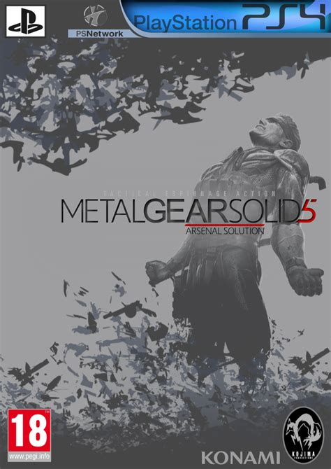 ps4 themes metal gear solid metal gear solid 5 ps4 cover idea fanart by