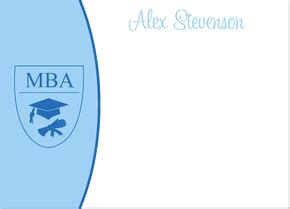 Mba Rounds by Blue Mba Note Cards By Ib Designs Invitation Box