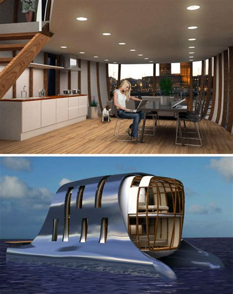 Houseboat Interior by New Urbanism Pontooned Or Luxury Houseboat Community