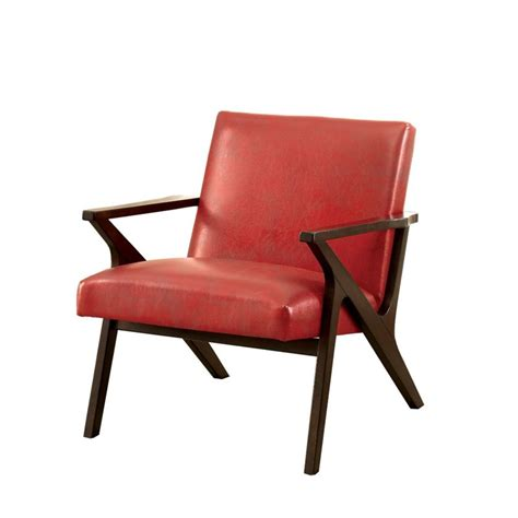 faux leather accent chair furniture of america conroy faux leather accent chair in