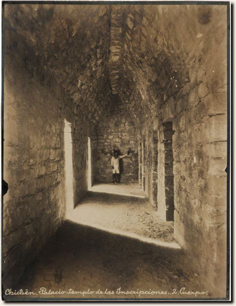 Chichen Itza Interior by Teobert Maler Temple Of The Inscriptions Interior Of