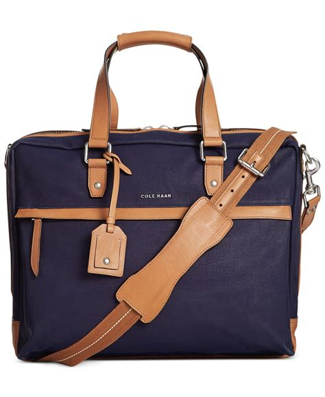 Cole Haan Kaylie Bag by Lyst Cole Haan Waxed Canvas Zip Top Attach 233 Bag In Blue