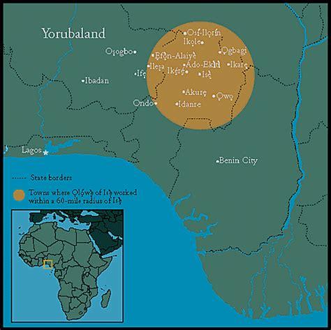 yoruba africa map the yoruba peoples
