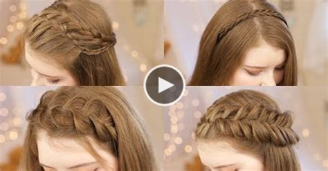 hairstyles tutorial videos 5 best headband braids hairstyle complete video tutorial