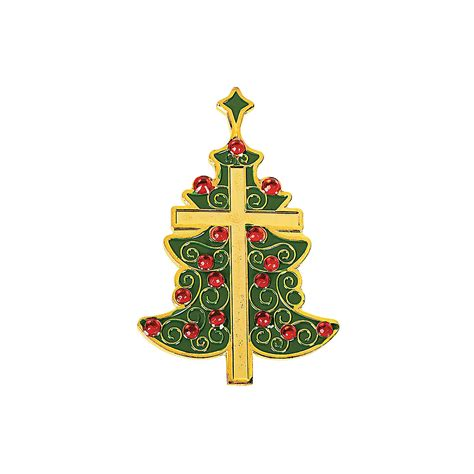 christmas tree cross pins oriental trading