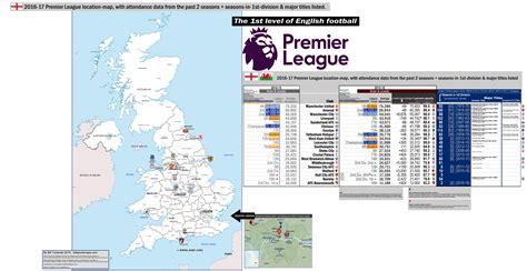 map of premier league teams eng gt premier league eng 1st level 171 billsportsmaps