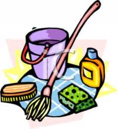 Floor Washing Robot by Mop And Cleaning Tools Royalty Free Clipart Picture