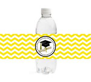 graduation labels template free items similar to chevron graduation water bottle labels