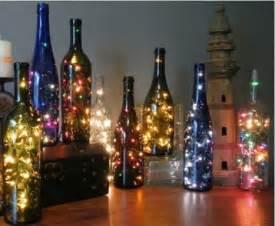 Green yellow orange red wine bottles diy decoration lights flower pots