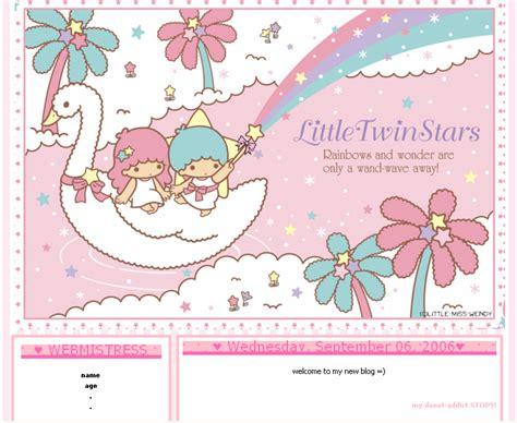 cute and pink blog themes kawaii blogging hawaii little twin stars kawaii blog template sanrio themes