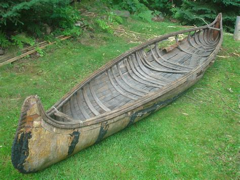 Handmade Canoe For Sale - a chippewa canoe chronicle beaverbarkcanoes