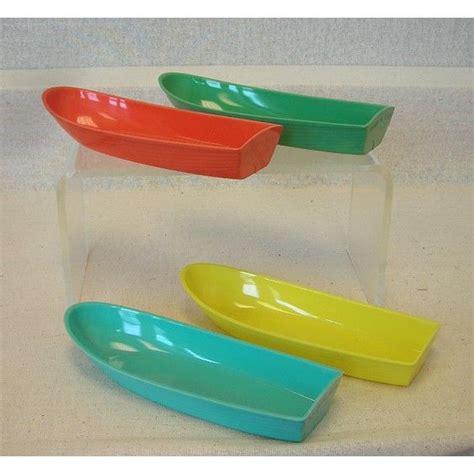love boat ice cream history 4 vintage brightly colored plastic banana boats banana