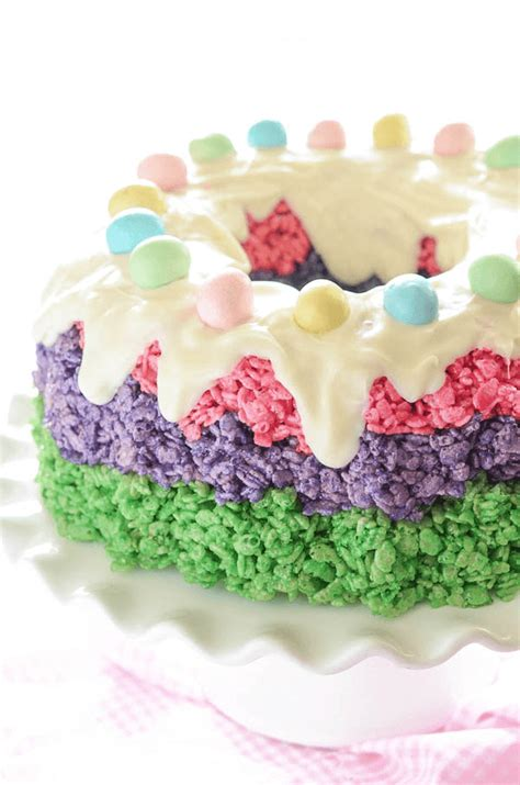 easter rice krispie cake  novice chef