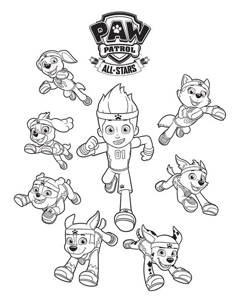 free coloring pages of paw patrol luke stars free printable paw patrol coloring pages for kids