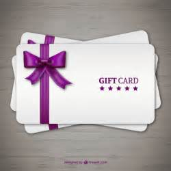 gift cards with purple ribbon vector free