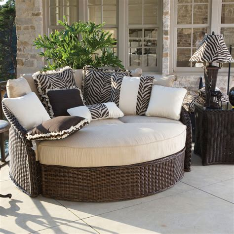patio day bed sedona wicker daybed by summer classics outdoor