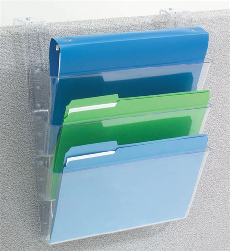 hanging file organizer hanging file holder clear in wall mount file racks