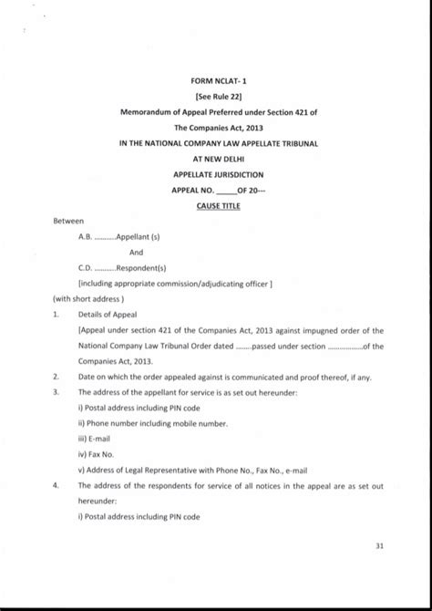 section 22 companies act national company law tribunal rules 2016