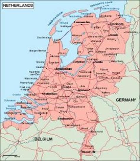 netherlands geography map netherlands vector maps as digital file