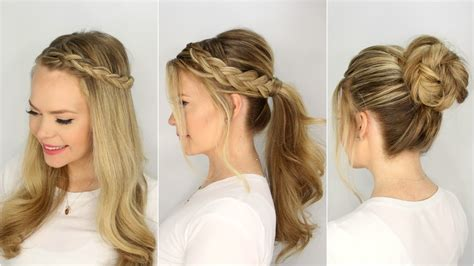 quick easy and beautiful hairstyles 3 summer hairstyles missy sue youtube