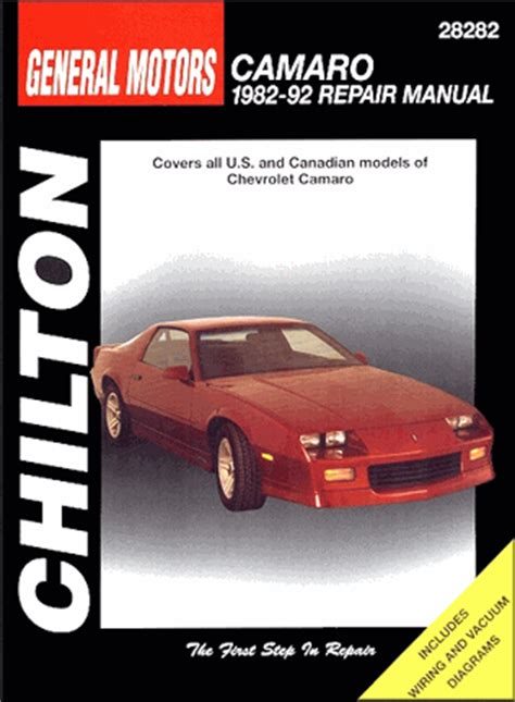 old car repair manuals 1992 chevrolet camaro on board diagnostic system camaro z28 berlinetta rs rally sport repair manual 82 92