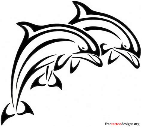 outline tribal images dolphin images designs