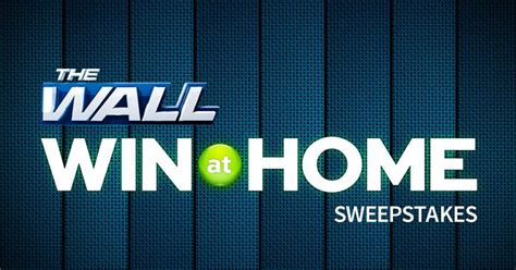 nbc the wall sweepstakes win up to 25 000 cash at home - Nbcthewall Sweepstakes