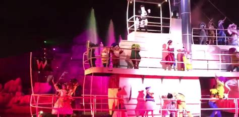 disney character  falls   boat