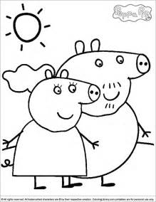 picture to color peppa pig coloring picture