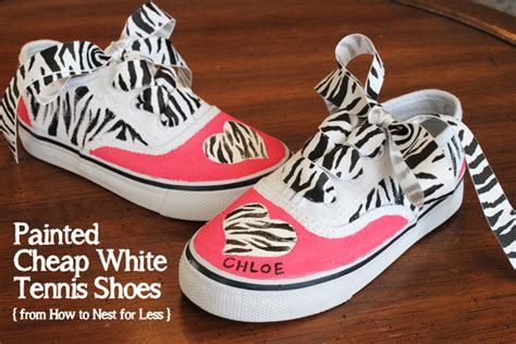 painted tennis shoes how to nest for less