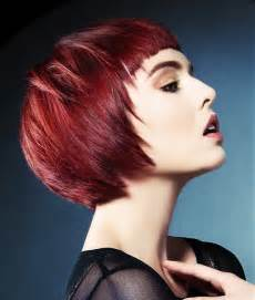 jamison shaw haircuts for layered bobs a short red hairstyle from the jamison shaw collection no