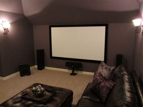 105in 16 9 projector screen home theater install