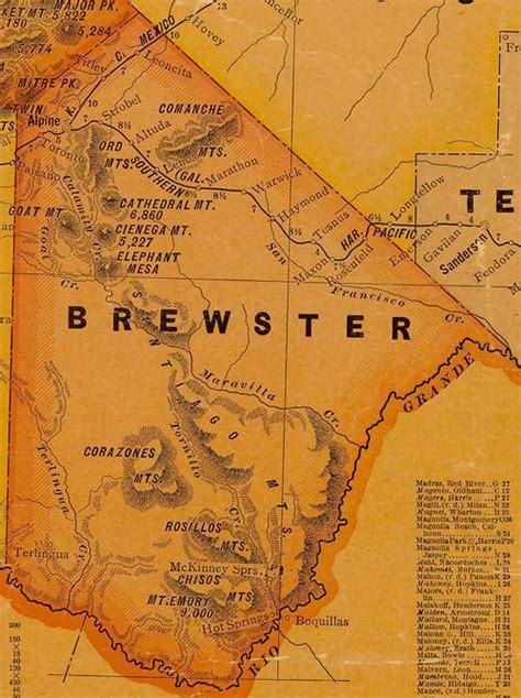 brewster county texas map terlingua texas