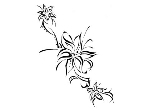 vine with flowers tattoo design tribal flower designs free clip