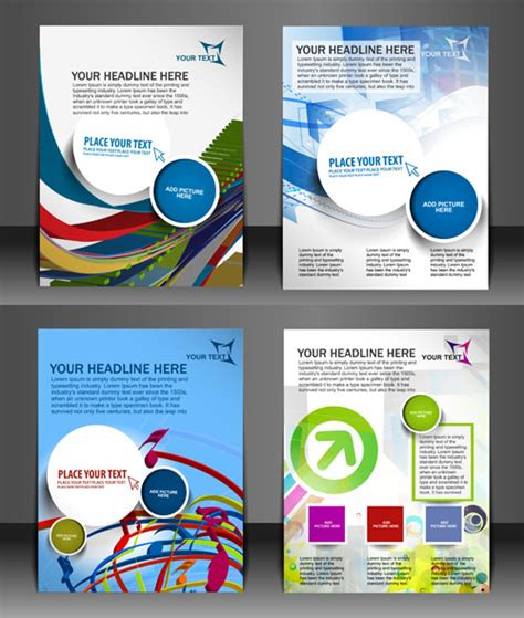 corel draw templates free modern templates flyer cover vector 03 vector cover free