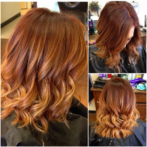 copper red ombre hair balayage 39 best hair i did images on pinterest blondes hair dos