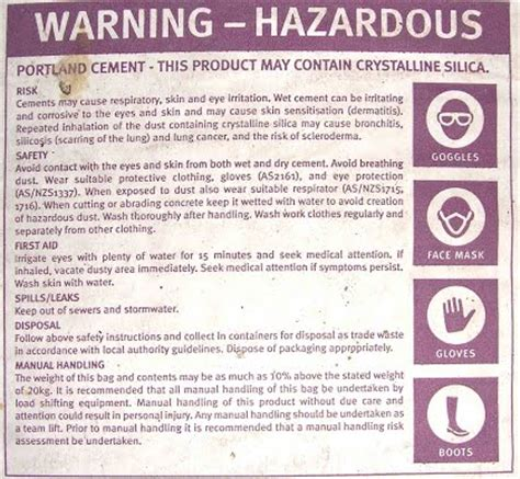 Handbag Health Warning health warnings of cancer on your bag of cement from your
