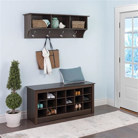 entryway storage prepac entryway shoe storage cubbie bench espresso ess 4824