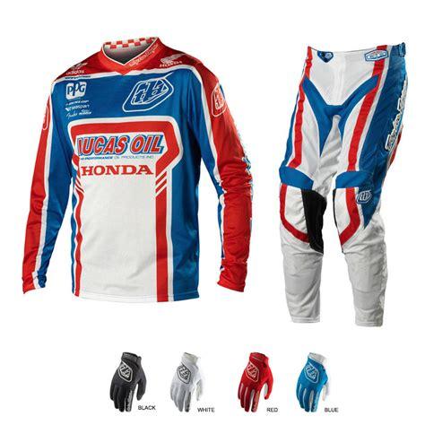 design motocross hoodie troy lee designs lucas oil honda team intro