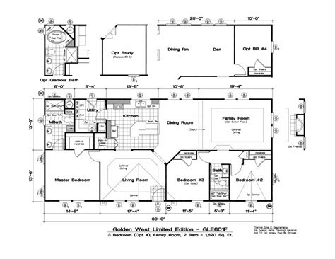 mobile homes floor plans manufactured homes floor plans 4 bedroom modular homes