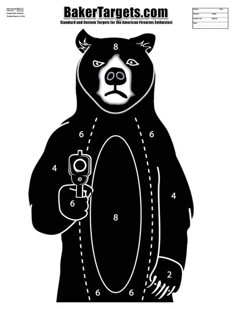 printable bear targets 402 best target images on pinterest shooting targets