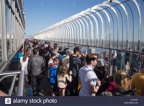 empire state building observation deck the empire state building observation deck on the