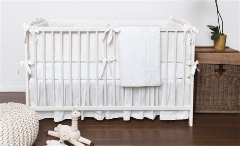 All White Crib Bedding White Out Project Nursery