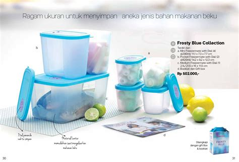 Tupperware Frosty Blue frosty blue collection tupperware katalog promo tupperware