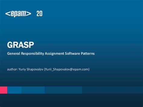 software design pattern grasp grasp principles