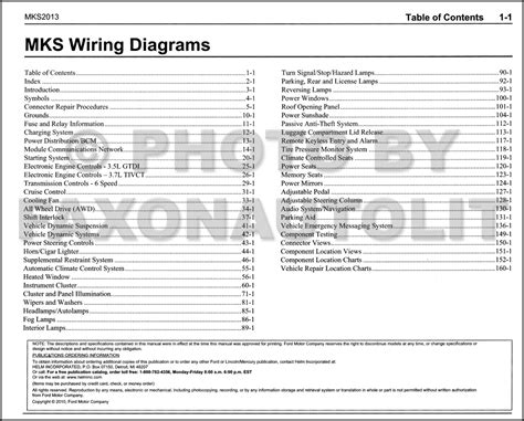 lincoln mks 2010 owners manual 2010 lincoln mks ecoboost wiring diagrams repair wiring scheme