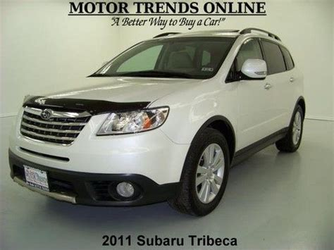 purchase used awd navigation rearcam roof leather htd seats hk sound 2011 subaru tribeca 45k in