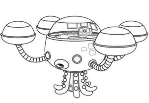 octonauts submarine colouring pages